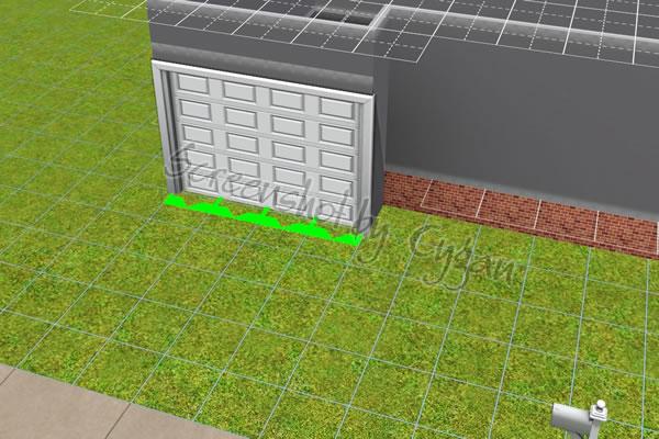 garage am fundamenthaus cygans heim. Black Bedroom Furniture Sets. Home Design Ideas